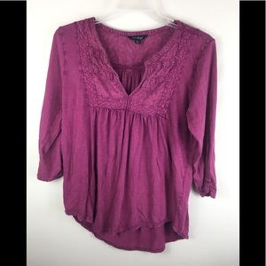 Lucky brand embroidered tunic shirt XL